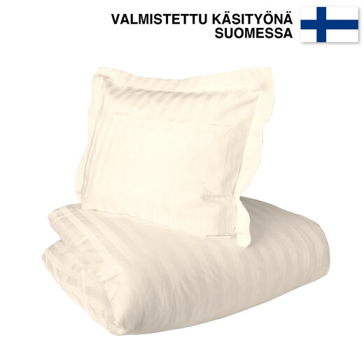 Untuvaa Taiga - easy to use Duvet cover, cream toffee