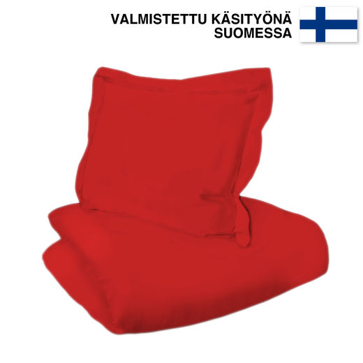 Untuvaa Taiga - easy to use Duvet cover, Red